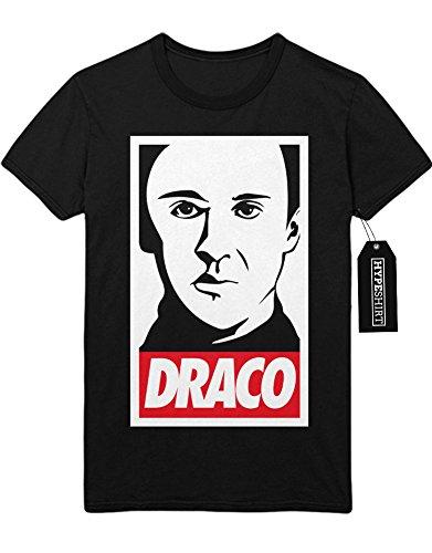 T-Shirt Draco Malfoy Harry Potter Hogwarts Schule Quidditch C980016 Schwarz M