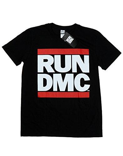 Run DMC Bambini e ragazzi Classic Logo Maglietta 14-15 Years Nero