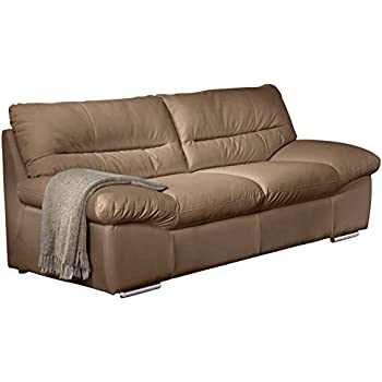 Sofa geschwungen  Edles Chesterfield Sofa HAVANNA CLUB braun 3-Sitzer mit Rädern ...