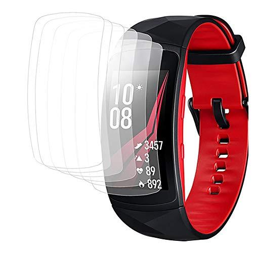 Wokee 4 PCS Schutzfolie Displayschutzfolie Full Coverage Film für Samsung Gear Fit2 Pro,Robuster Anti Scratch Film,Transparent,Display Schutzfolie