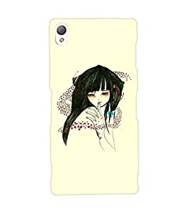 Fuson Sweet Girl Back Case Cover for SONY XPERIA Z3 - D3827