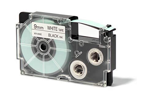 CASIO EZ-Label Printer XR-9WE1 Schriftband selbsthaftend 9 mm x 8,0 m schwarz auf weiß