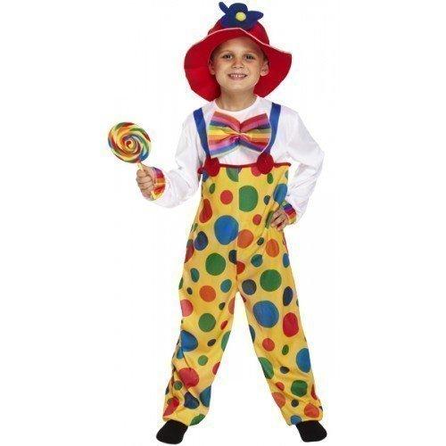 Mädchen Jungen Kinder Clown Kostün Zirkus Fasching Karneval in verschiedenen Größen - Mehrfarbig, 122-134 (Verschiedene Clown Kostüme)