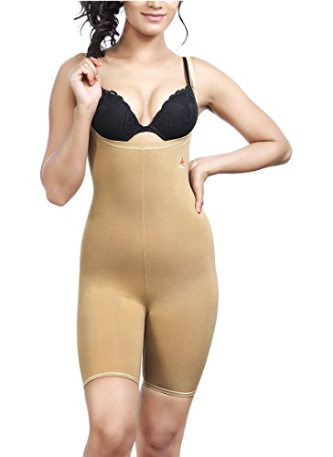 Adorna Women's Cotton Body Bracer Shapewear (ADBB01140, Beige, XL)
