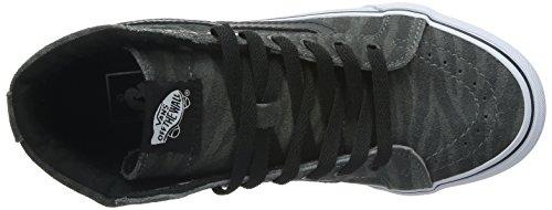 Vans Ua Sk8-Hi, Chaussures en Forme de Bottines Femme, Gris, Taille Gris/noir