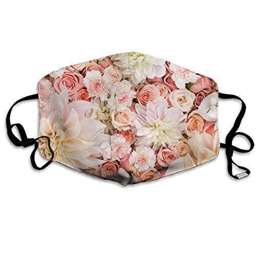 liang4268 Mundmasken Petal Roses Blush Pink Flu Dust Masks Reusable Cotton Breathable Safety Respirator for Outdoor Cycling Face Earloop Masks Dust Pollen Flu Germs Allergens Masks -