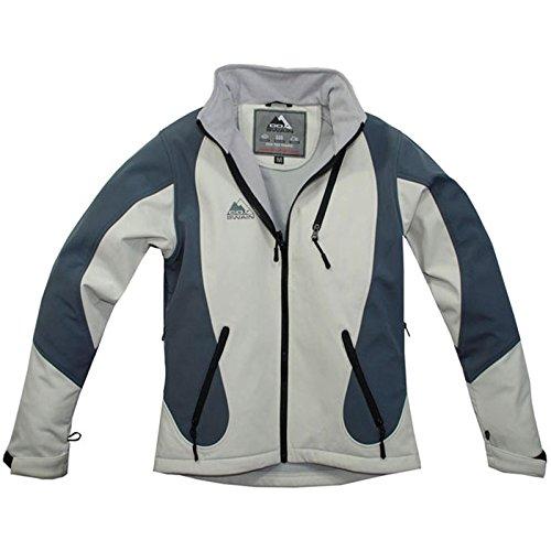 Cox Swain TITANIUM 3-Lagen Damen Softshell Jacke FOREST - 10.000mm Wassersäule 2.000mm atmungsaktiv, Colour: White/Grey, Size: M