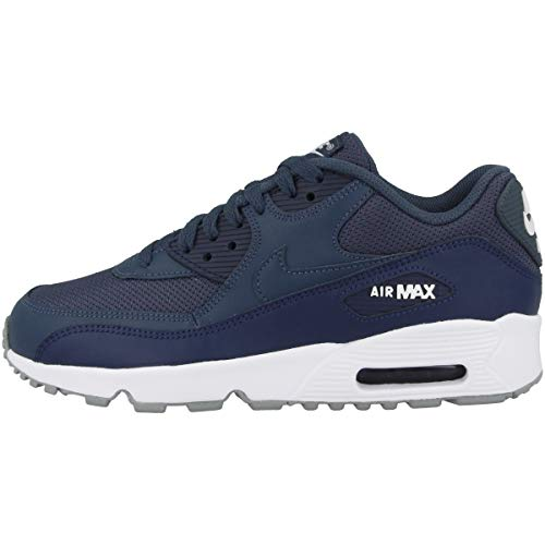 Nike Herren Air Max 90 Mesh (gs) Leichtathletikschuhe, Mehrfarbig (Monsoon Blue/Monsoon Blue/Midnight Navy 000), 38.5 EU