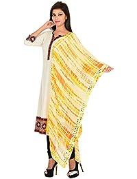 Ooltah Chashma Designer Geogrette Tie & Dye Party Wear Stole For Women/Girls