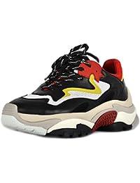 b50c574e02a Ash Chaussures Addict Baskets Rouge Et Noir Femme
