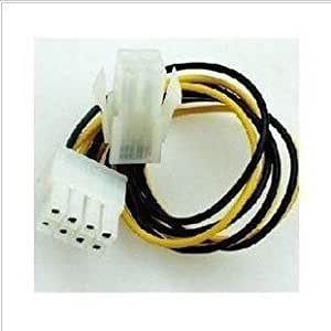 4 to 8 pin CPU Power supply extension cable wire convertor connector 20cm