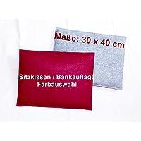 WunschFarbe - Sitzkissen aus Filz, 40 x 30 cm, Stuhlkissen