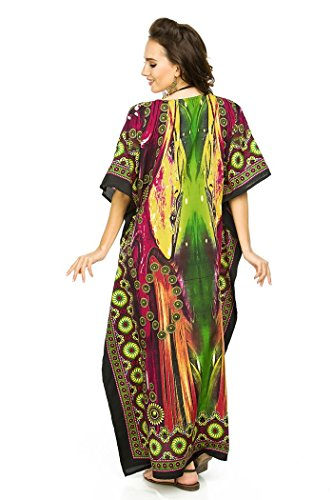 Looking GLAM NEUF pour femmes coupe oversize MAXI Kimono Tunique caftan robe caftan taille Libre pink-17002