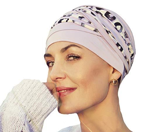 Turbante Shanti bambú Estampado Animal Mujeres Alopecia