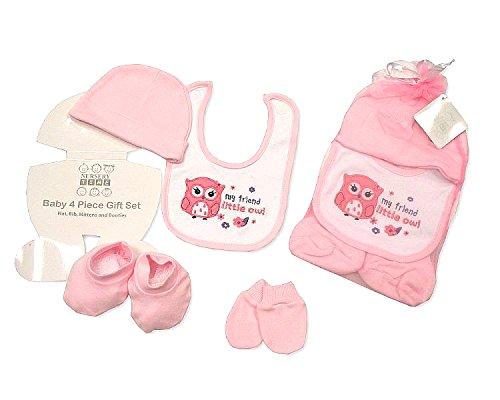4Stück Baby-Geschenk Set mit Mesh Tasche Größe–Neugeborene