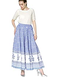 Srishti By FBB Skirt (LEFB-4191-15839-A-38-SKT-RI, M, BLUE_Blue_Medium)