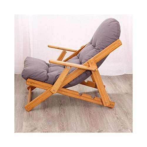 MDBYMXLiegestuhl Balcony Loungers, Loungers Armlehnstühle, Klappstühle, Nordic Lounge Chairs, Easy Chairs, (Farbe : Gray) - Easy Lounge Chair
