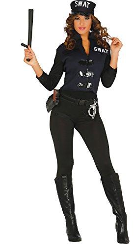 Damen Swat Kostüm - Guirca-Kostüm Erwachsene Polizei, Gr. 38-44(84357.0)