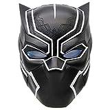 Xcoser Marvel's The Avengers Máscara de Black Panther con LED Casco...