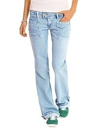 """n.n jean femme bootcut, jean à taille basse, jean en look """"boyfriend"""" j60p"""