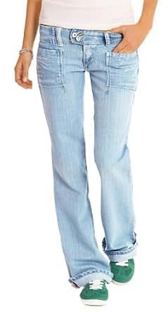 """n.n jean femme bootcut, jean à taille basse, jean en look """"boyfriend"""" j60p 34/XS"""