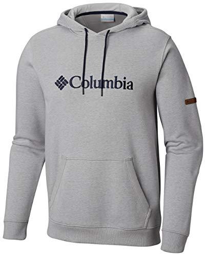 Columbia Kapuzenpullover für Herren, CSC Basic Logo II Hoodie, Baumwolle, Grau (Columbia Grey/Heather), Gr. S, 1681661 (Sweatshirt Baumwolle Columbia)