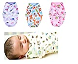 PEUBUD ® Swaddle/Wrap/Sleeping Bag/Soft Envelope Adjustable for Newborn Baby (0-6 Months)(Set of 1)