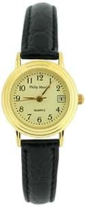 Philip Mercier Damen-Armbanduhr Schwarz SML01/C