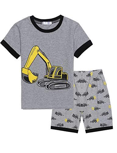 Jungen Kurzarm-dinosaurier (Bricnat Jungen Schlafanzug Kurzarm Dinosaurier Tier Nachtwäsche Sleepwear)