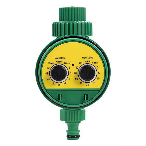 lyrlody Timer Irrigazione, Programmatore Elettronico Multifunzione Digitale a Due Guadranti con Iirrigazione Automatica con Sistema di Irrigazione per Irrigazione da Giardino
