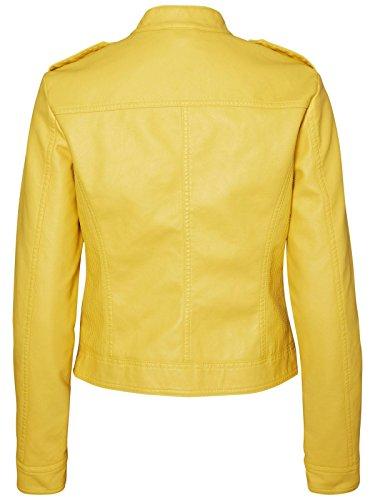 Vero Moda Vmalice Short Faux Leather Jacket Boos, Giacca Donna Giallo
