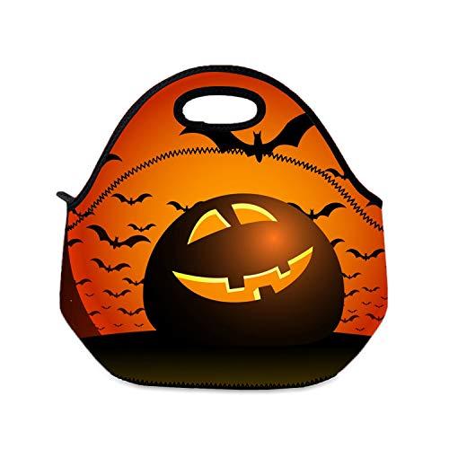 Lunchbox für Mädchen, Halloween, für die Nacht, für Jungen, Schule, Reisen, Picknick, tragbare Tragetasche