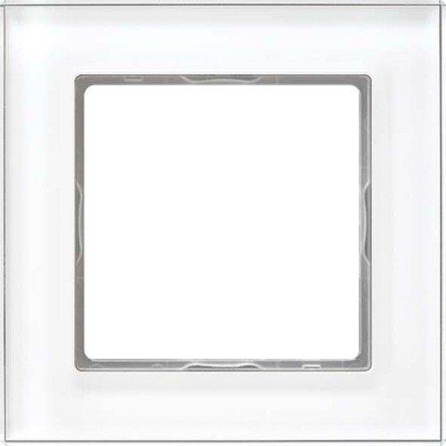 Jung AC 581 GL WW Rahmen Glas 1fach Serie A Creation alpinweiß