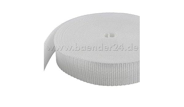 schwarz 1,4mm stark UV 10m PP Gurtband 25mm breit