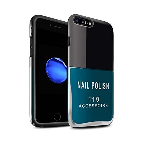 STUFF4 Glanz Harten Stoßfest Hülle / Case für Apple iPhone SE / Rot Muster / Nagellack/Make-Up Kollektion Blau