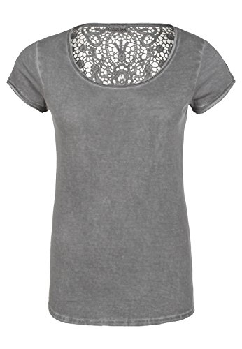 Urban Surface Damen Shirt mit Spitzenrücken | Elegantes T-Shirt IM Generation Look Aus Leichtem Jersey Dark-Grey M