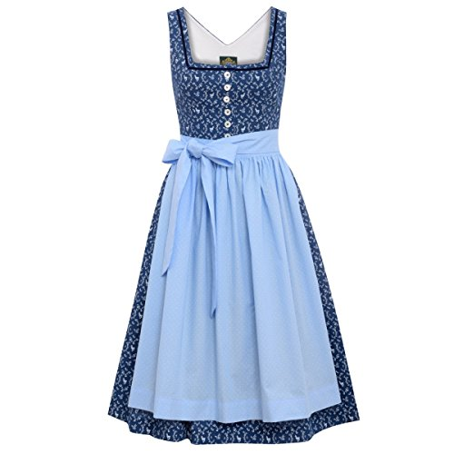 Hammerschmid Damen Trachten-Mode Midi Dirndl Thiersee in Blau traditionell