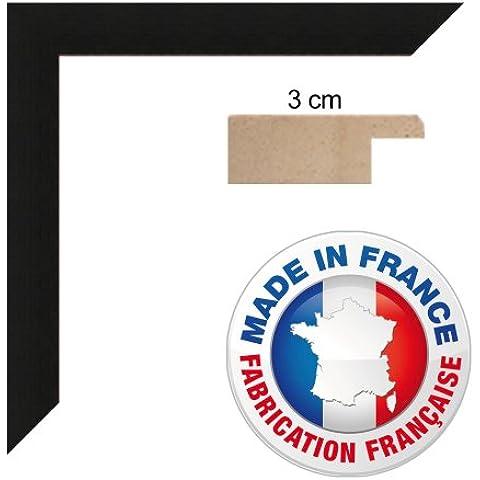 Carta da cornice 15x21 / 15 x 21 cornice , 3 centimetri largo, Foto Struttura in legno