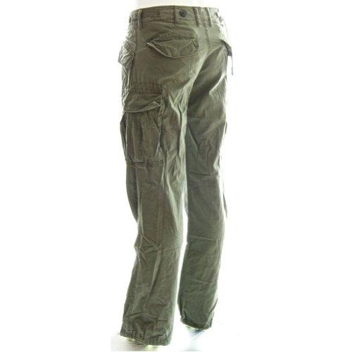 Jeans Cargo Da Donna a Stampa Giungla 45041 - 100% Cotone Pantaloni da Combattimento Verde Prato