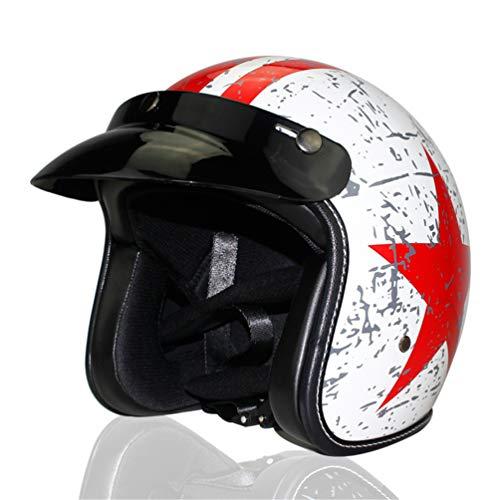Qianliuk-Casco-Moto-Quattro-Retro-Scooter-Stagione-retr-Casco-semicasco-Viso-Aperto-per-Uomo-e-Donna
