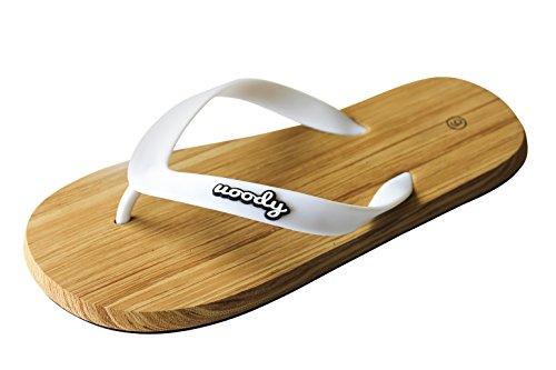 uoody Sandalen für Damen, Anpassungsfähige Flip Flop mit Zehentrenner & Slipper, Süße, Bequeme, Lässige Schuhe Die Ihr Lauferlebnis aufwerten (Weiß 37) (Lässig-flip-flop)
