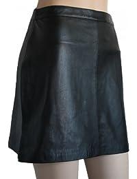Trendiger Mini Lederrock aus Lammnappa Business Rock echtleder schwarz