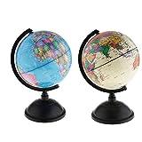 B Blesiya 1 Paar Rotierende Desktop Globus Spardose Sparschwein für Münzen Geld Lernspielzeug