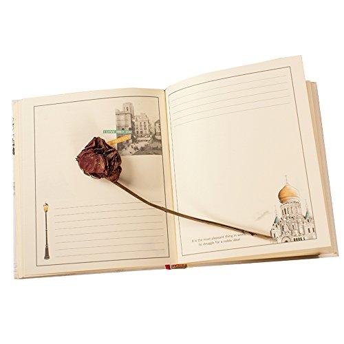 littledi Diary Barock Architektur Hard Cover mit Illustrationen Notizbuch Tagebuch 124Seiten Geschenk für Freunde Lovers (zufällige Muster)