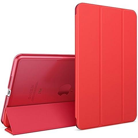 nica Smart Case Apple iPad Mini 4 Tablet Caso Ultrasottile Slim Cover - Multi Supporto Verticale Funzione Automatica Sveglia / Riposo - Rosso - Partito Personalizzati Mini