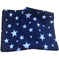 Azul marino y blanco Twinkle estrellas forro polar estribo Covers, Equestrian