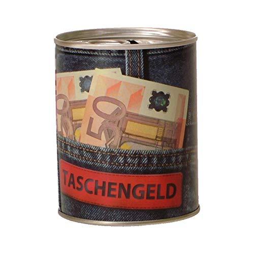 trendaffe Taschengeld Spardose aus Metall - Geldscheine Sparbüchse Sparschwein Euroscheine -