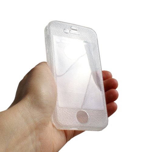 System-s Skin Coque Transparent en silicone TPU pour Apple iPhone 4