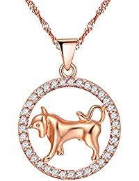 Mother's Day Gift Cubic Zirconia Elephant Necklace Mom Love Baby Charm Pendant Necklaces PN4373