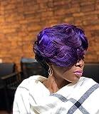 Xiangruima Perücke Damen Spitze Gemischten Farbverlauf, Lange Haare Kurzes Haar, Rollenspielperücke